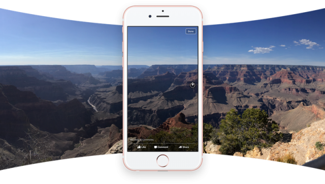 Panoramic photos come to Facebook