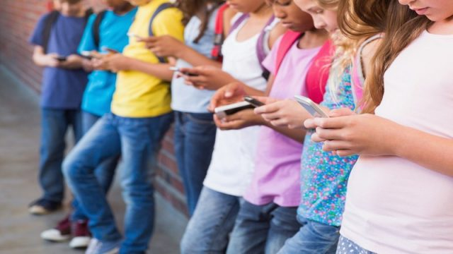 More than half of all children own a mobile phone