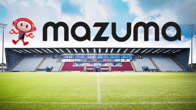 Mazuma – the new stadium sponsor for Morecambe FC!