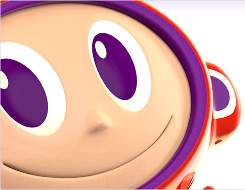 Maz 3d character render, close-up face