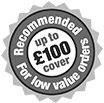 Up to £100 cover...