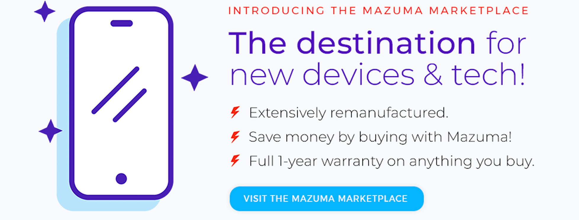 Introducing the Mazuma Marketplace - The destination for new devices & tech!
