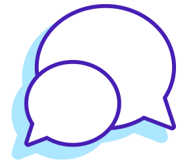 Contact by live chat icon