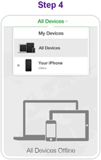 Step 4 - Select device from Device list (top left hand side)